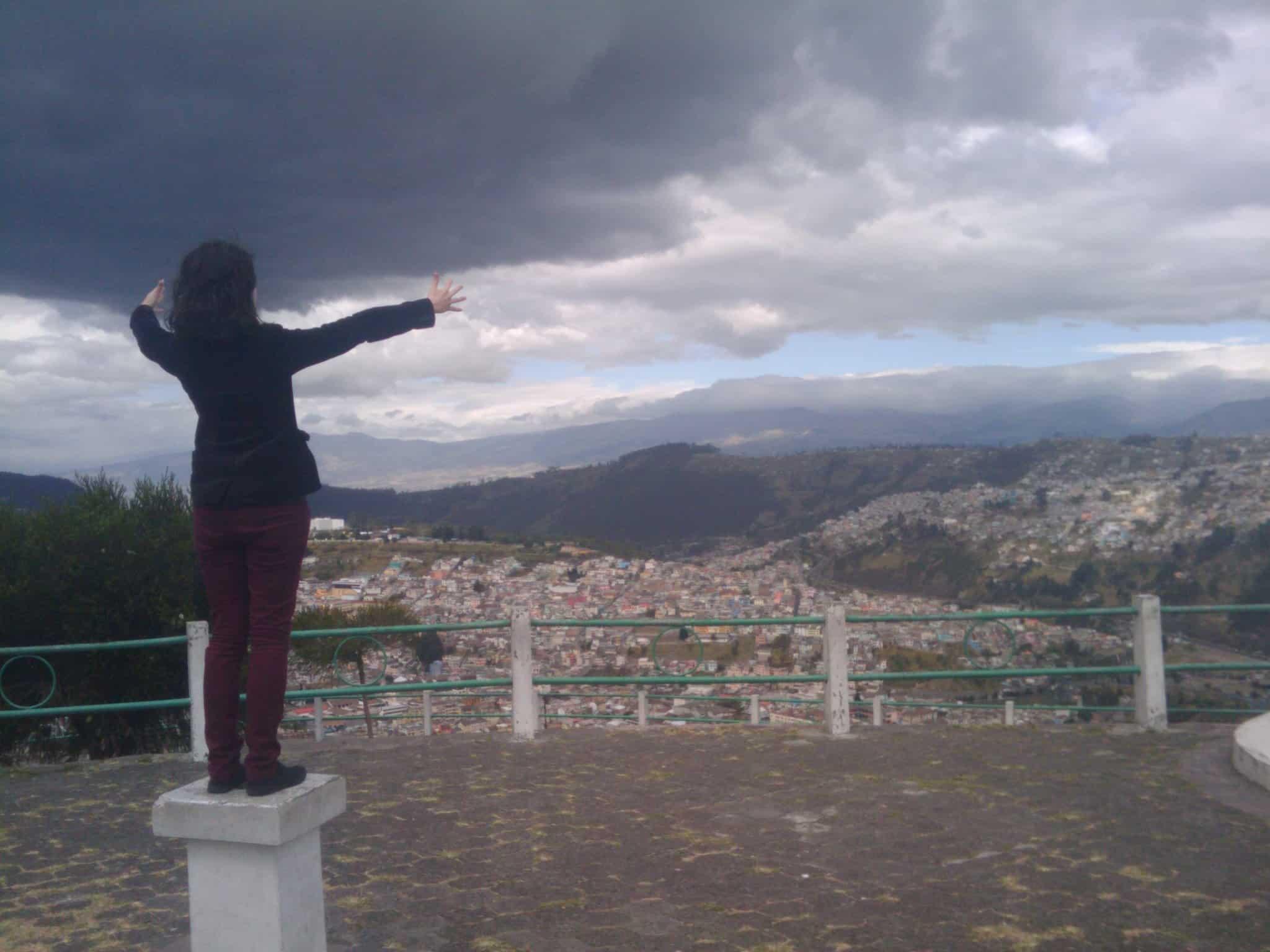 Le Panecillo et la vue sur Quito