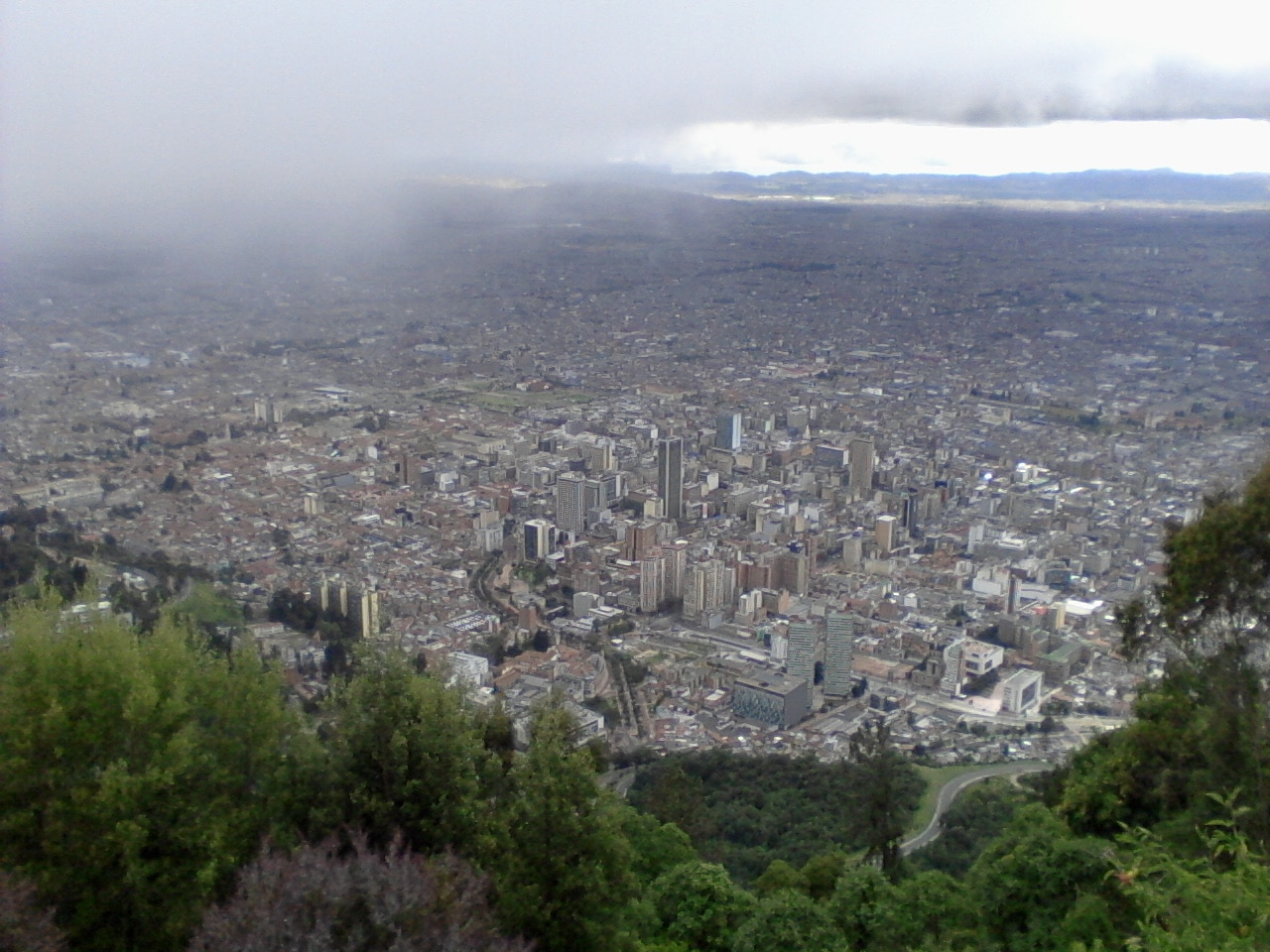 Monserrate et Colpatria: l'immensité de Bogota