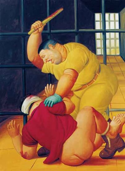 La prison d'Abou Ghraib par Botero