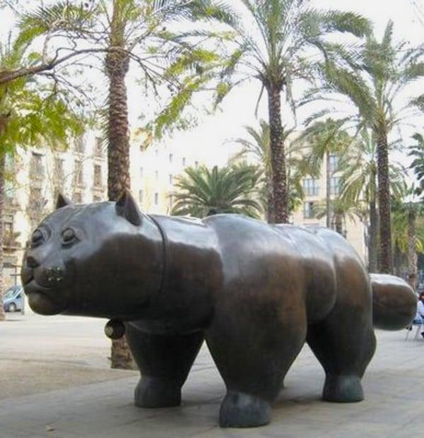Statue de Botero à Barcelone