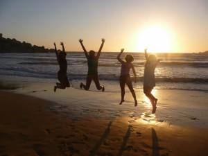 Coucher de soleil sur Golden Bay