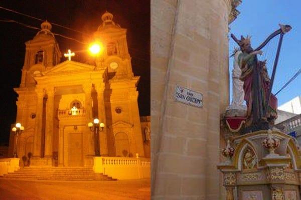 Eglise à Dingli - Statue à Rabat