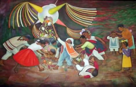 Posadas de Noël et piñatas au Mexique