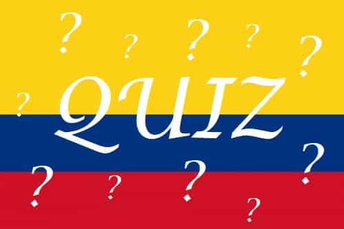 Quiz Colombie pour mieux vivre en société!